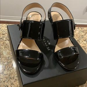 Coach Marla patent leather sandals